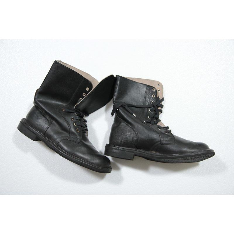 SOBR放出 実物 官給品 黒革ブーツ #3