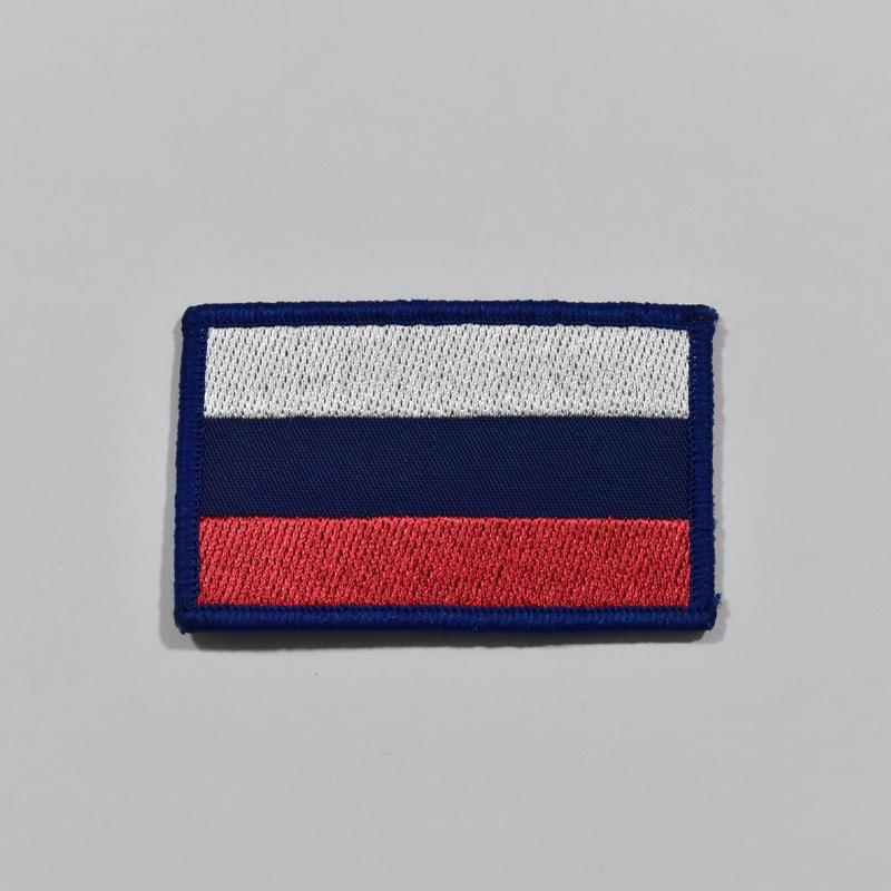 ロシア製 ロシアフラッグパッチ 中 ベルクロ付き カラー