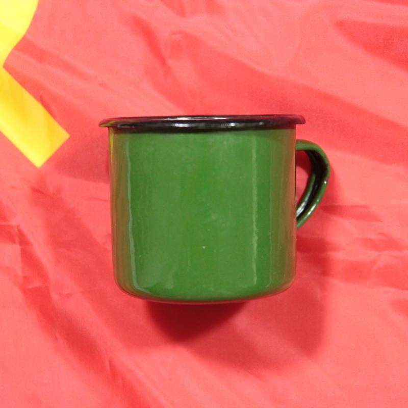 ソ連製 ホーローマグカップ 緑