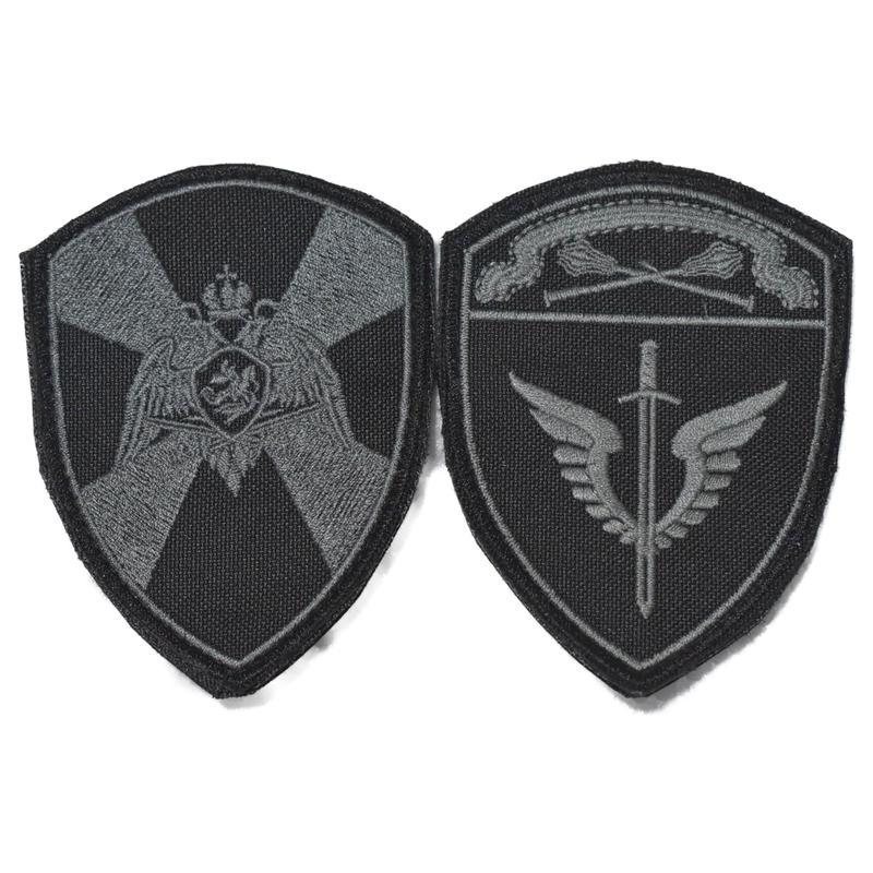 ロシア国家親衛隊 Rosgvardia (VV) モスクワ軍管区 OMON 両腕パッチ シルバー