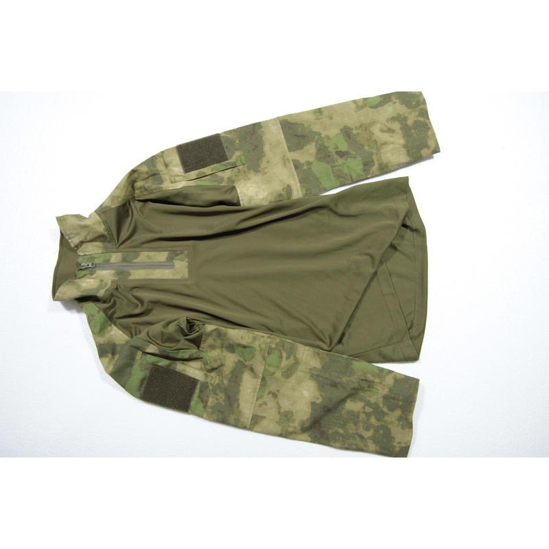 SSO製 A-tacs迷彩 コンバットシャツ+パンツ パッドセット