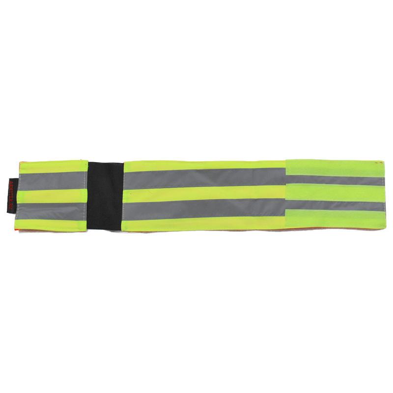 Armytex製 リフレクティブバンド 蛍光反射腕章 リバーシブル 改良型 伸縮バンド付き