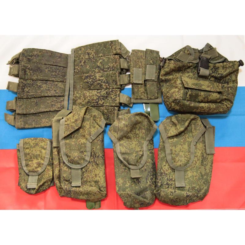 ロシア連邦軍 官給品 6b46向け デジタルフローラ迷彩 Tehinkom製 ポーチセット