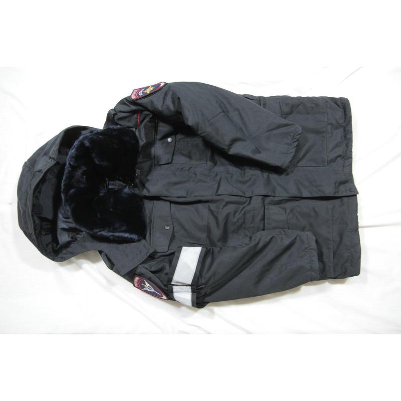 ロシア警察 内務省官給品 冬服 制服 IDケース 両袖/背中 パッチ付き