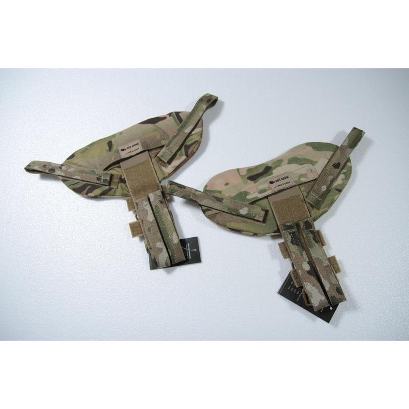 ArsArma製 マルチカム迷彩 Defender-2タイププレキャリ取り付け用ネックガード ケヴラー付き