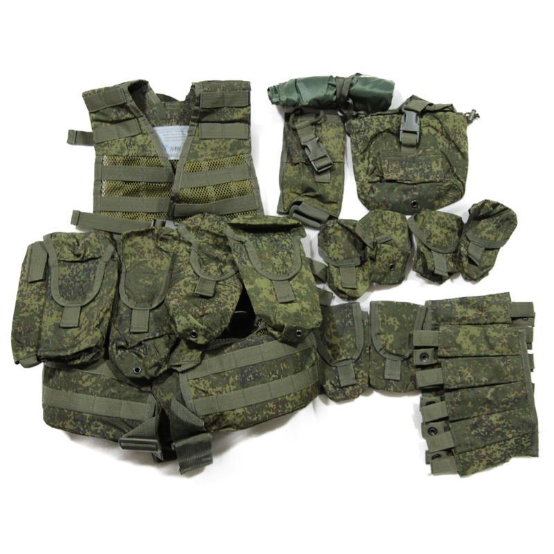 ロシア連邦軍 デジタルフローラ迷彩 6sh117 ベスト フルセット 完全未開封品