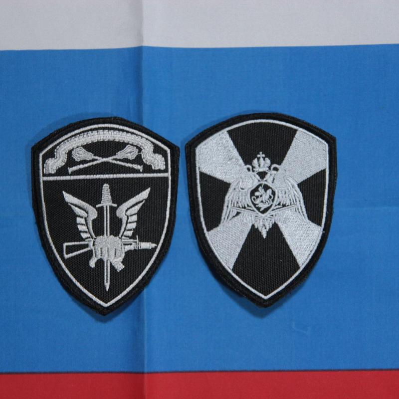 ロシア国家親衛隊 Rosgvardia (VV) モスクワ軍管区 OMON/SOBR 両腕パッチ シルバー