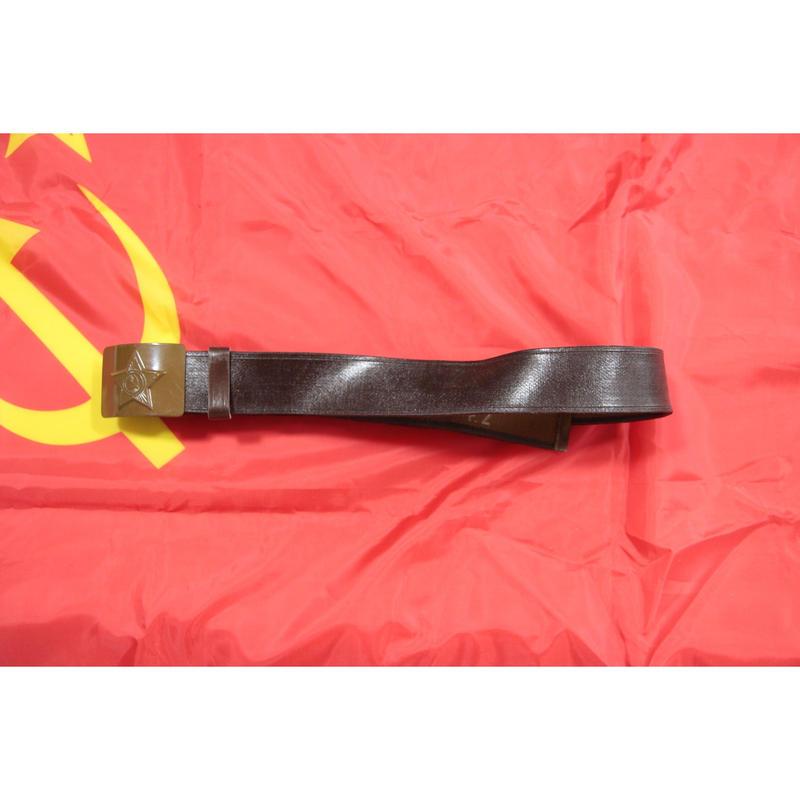 ソ連製 地上軍 コットン製 OD塗装バックル コットンベルト