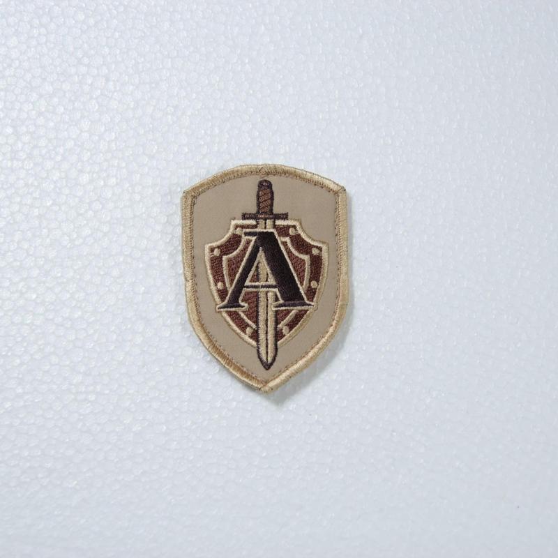 """Armytex製 FSB TsSN """"A"""" アルファ部隊 袖パッチ TAN ベルクロ付き"""