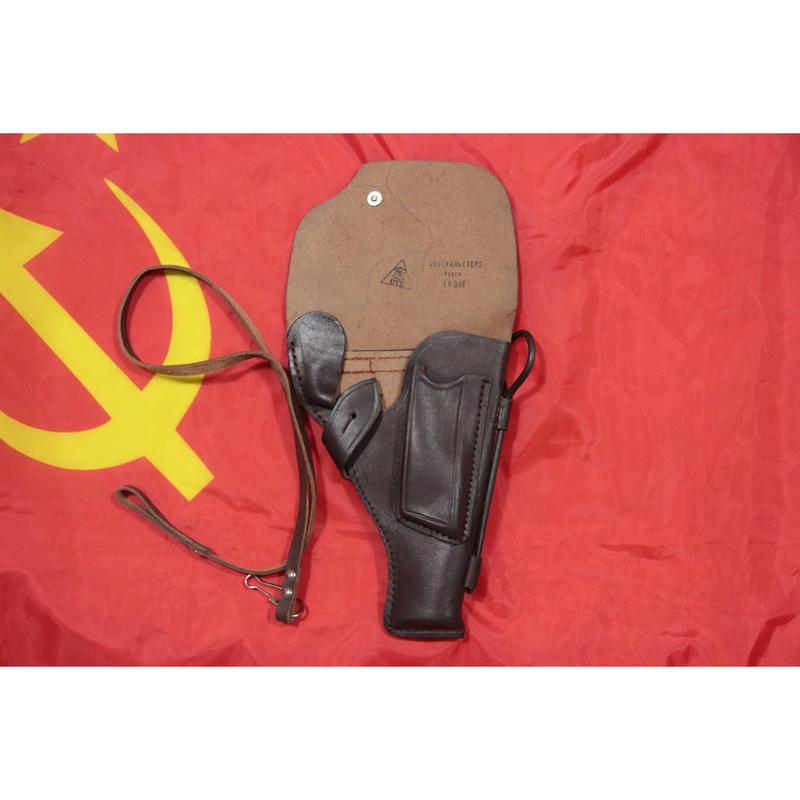 ソ連製 革製 後期製 トカレフ ホルスター ランヤード+クリーニングロッド付き