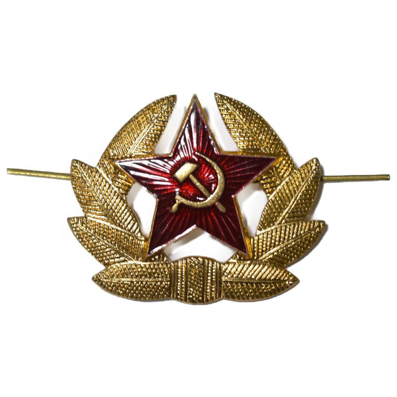 ソ連製 赤い星 帽章 カラー