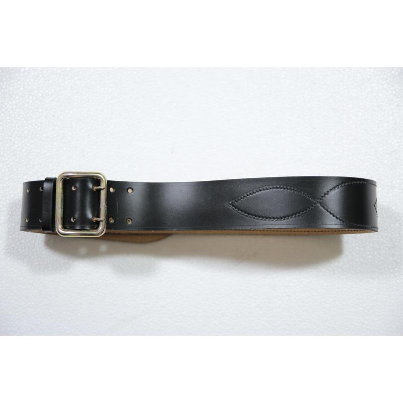 ロシア製 黒革ベルト オフィサーベルト