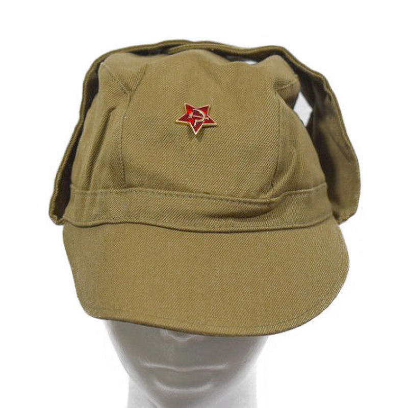 ソ連製 アフガンキャップ ケピ帽 兵用帽子 サイズ58cm  帽章付き