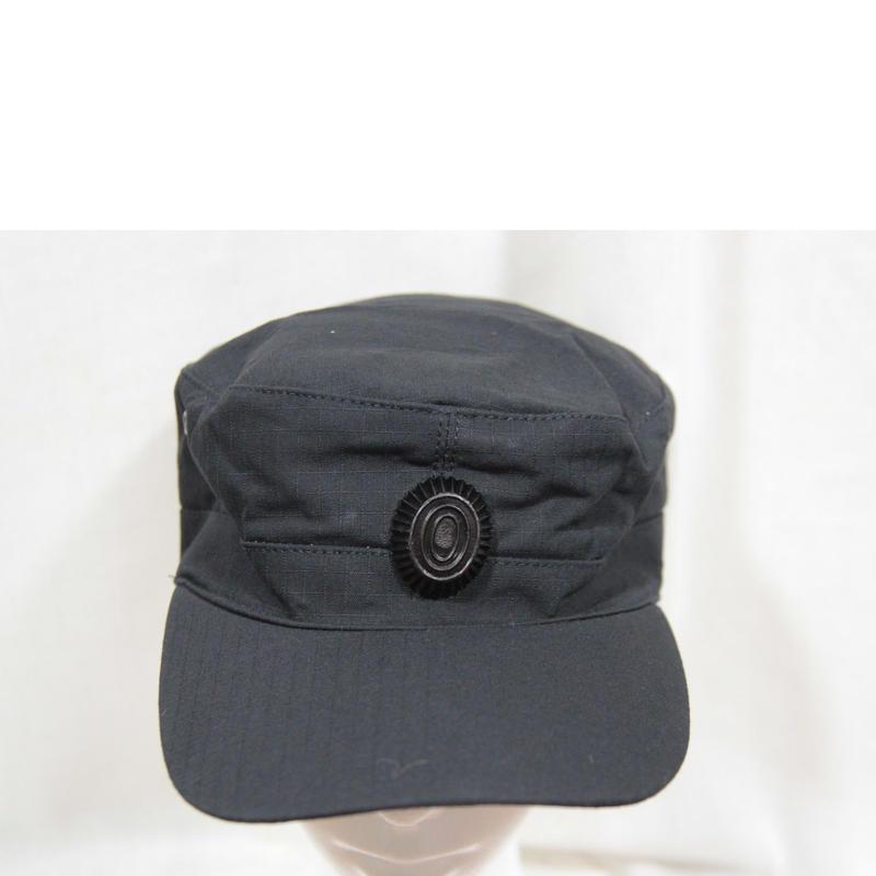 SOBR放出 内務省官給品 黒キャップ 帽章付き 59cm