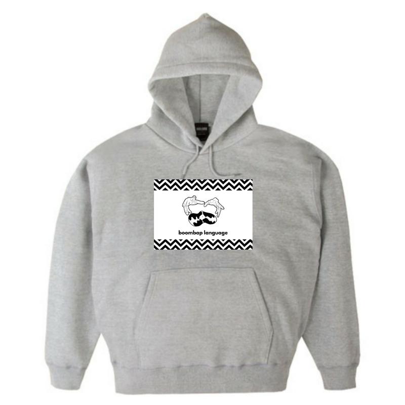 boombap language hoody (heather gray)