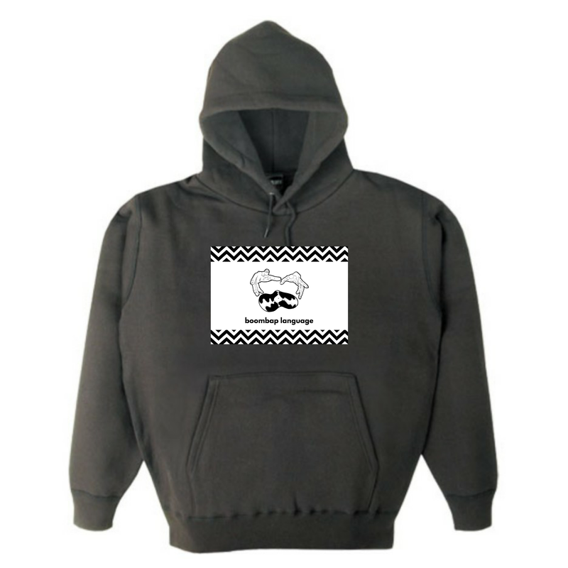boombap language hoody (super black)
