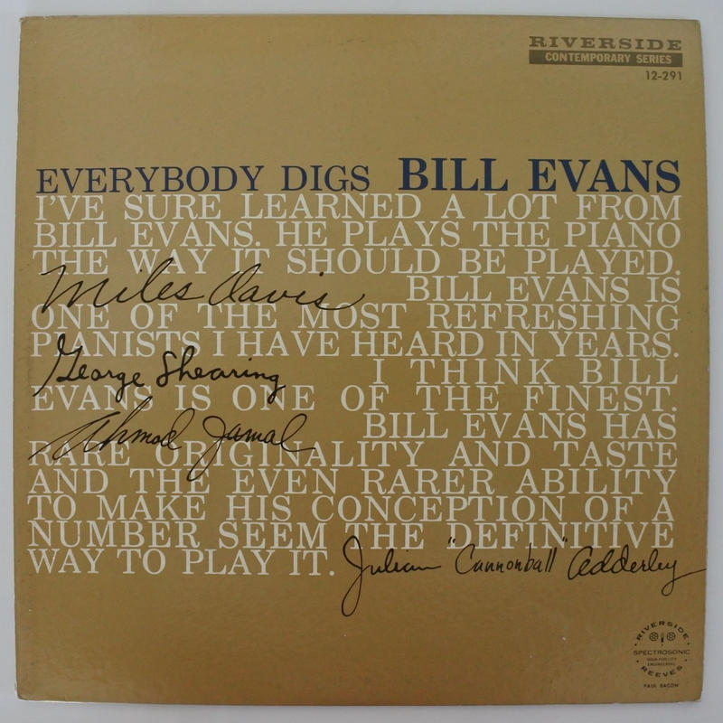 Bill Evans Trio  ‎– Everybody Digs Bill Evans(Riverside Records ‎– RLP 12-291)mono