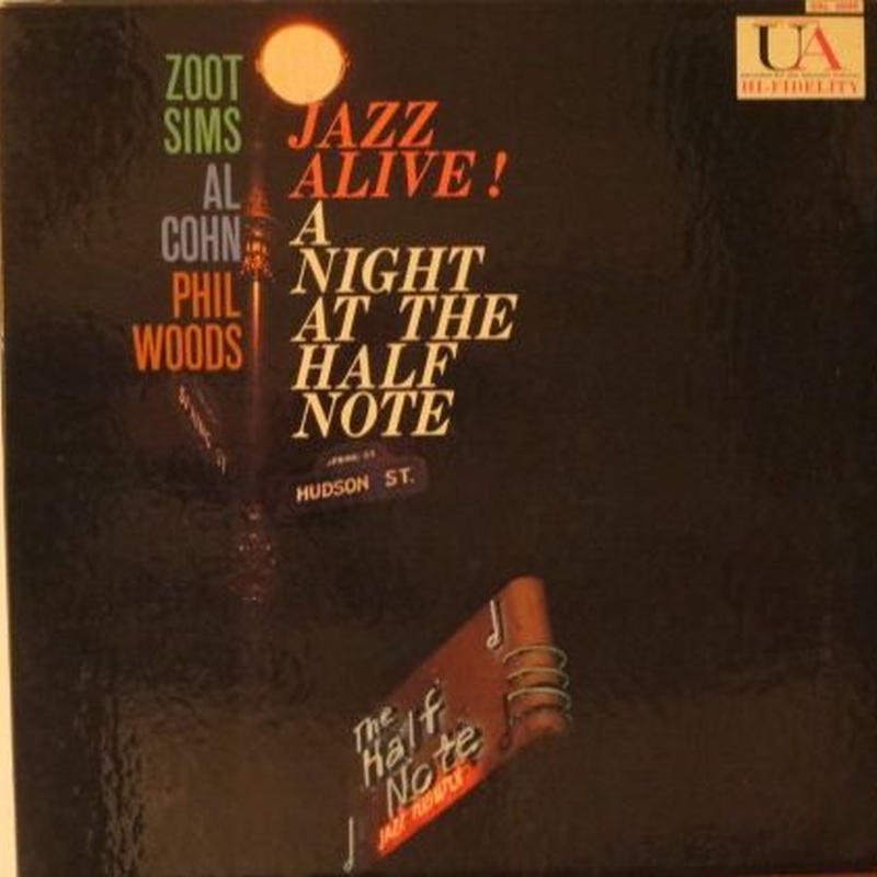 Zoot Sims ‎– Jazz Alive! A Night At The Half Note (United Artists UAL 4040) mono