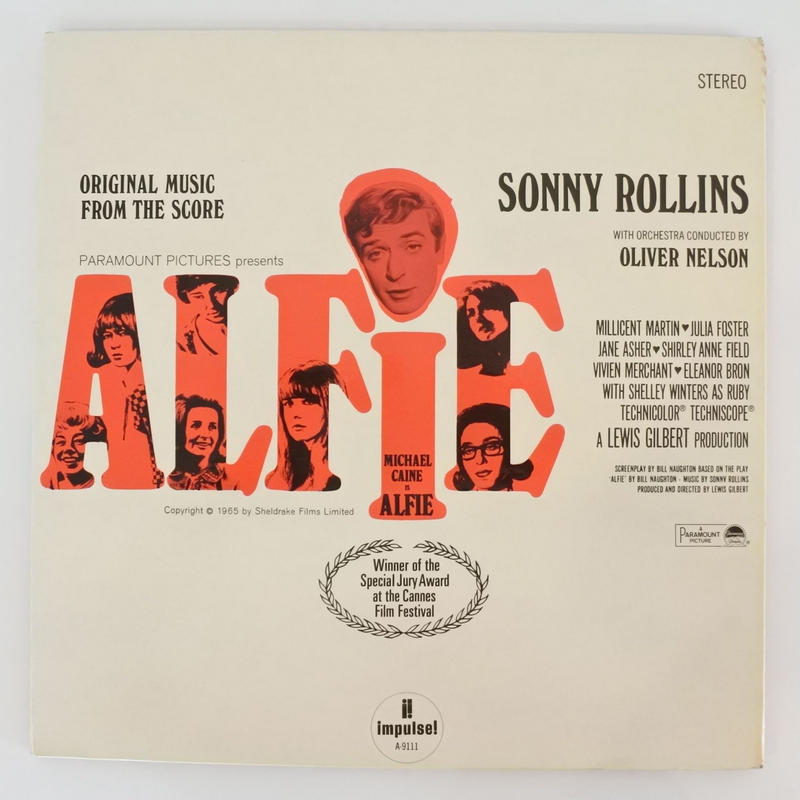"""Sonny Rollins – Original Music From The Score """"Alfie""""(Impulse! – AS-9111)stereo"""