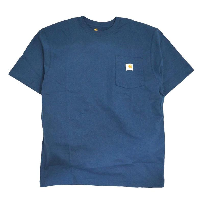 CARHARTT USA S/S POCKET T-SHIRTS S.BLUE
