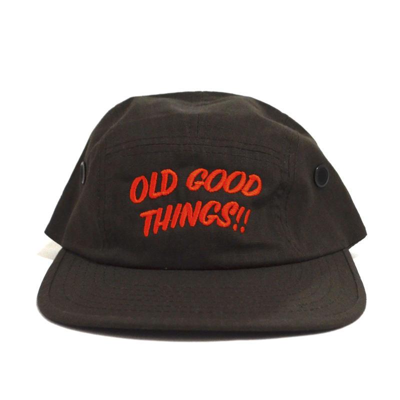 OldGoodThings 5PANEL CAP (ORIGINAL LOGO) BROWN