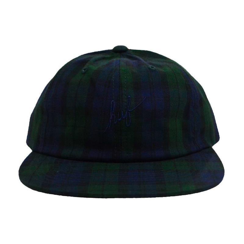 HUF 6PANEL CAP (TARTAN SCRIPT) GREEN CHECK