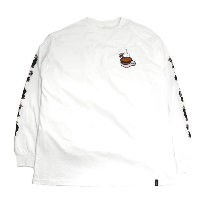 HUF L/S T-SHIRTS (HUF X POPEYE) WHITE