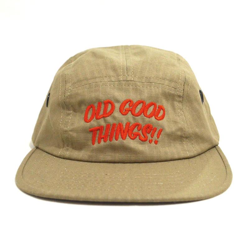 OldGoodThings 5PANEL CAP (ORIGINAL LOGO) KHAKI