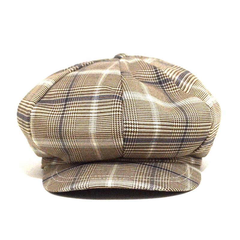 NO BRAND (8PANEL CASQUETTE) BEIGE CHECK