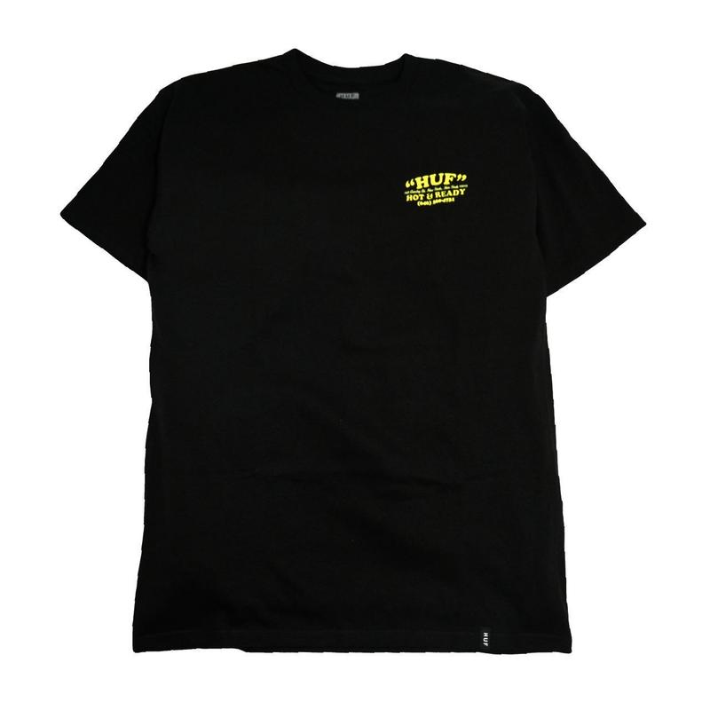HUF S/S T-SHIRTS (HOT & READY) BLACK