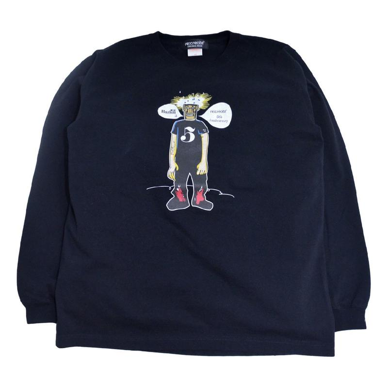 re:create ORIGINAL L/S T-SHIRTS (re:create & WEST HARLEM) BLACK
