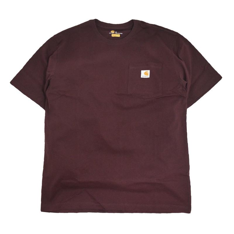 CARHARTT USA S/S POCKET T-SHIRTS BURGUNDY