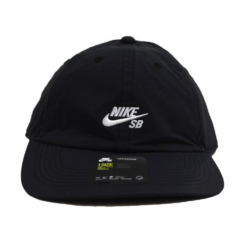NIKE SB 6PANEL CAP (88 FLAT BIL) BLACK