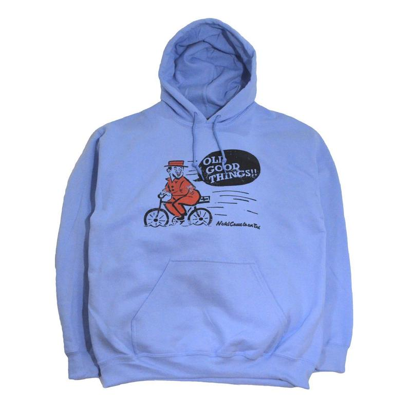OldGoodThings SWEAT HOODIE (NEVER) LIGHT BLUE