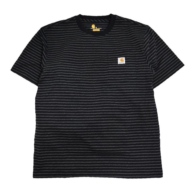 CARHARTT USA S/S POCKET T-SHIRTS BLACK STRIPE