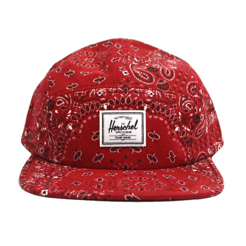 HERSCHEL 5PANEL CAP (RED BANDANA) RED