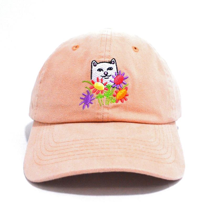 RIPNDIP 6PANEL CAP (FLOWER FOR BEE) ORANGE