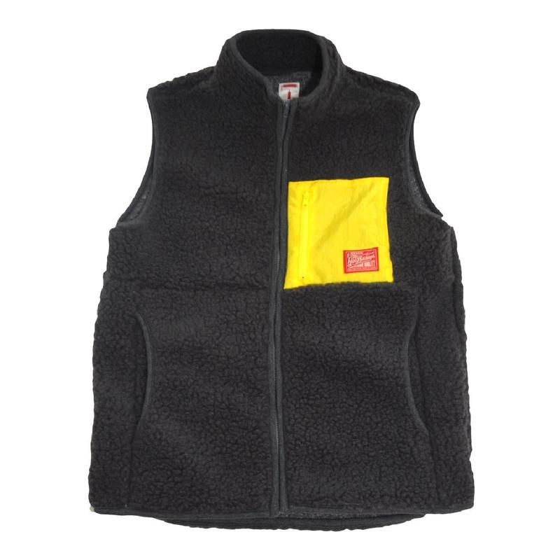 5656WORKINGS (HOLIDAY BOA FLEECE VEST) CHARCOAL GREY