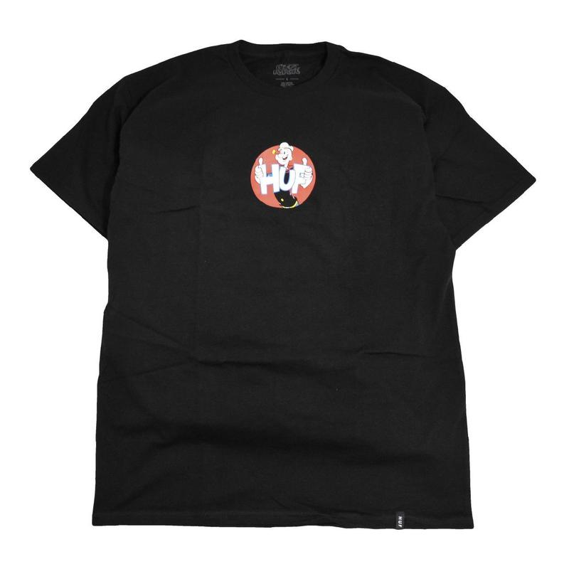 HUF S/S T-SHIRTS (POPEYE & HUF) BLACK