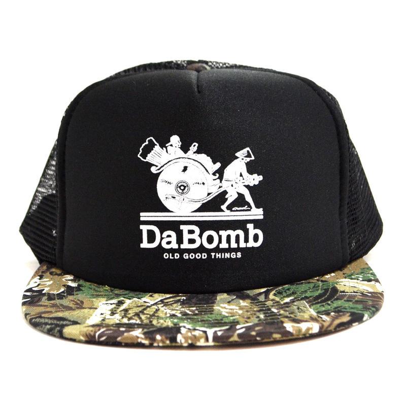 OldGoodThings 5PANEL MESH CAP (re:create LIMITED [DA BOMB]) BLACK / CAMO