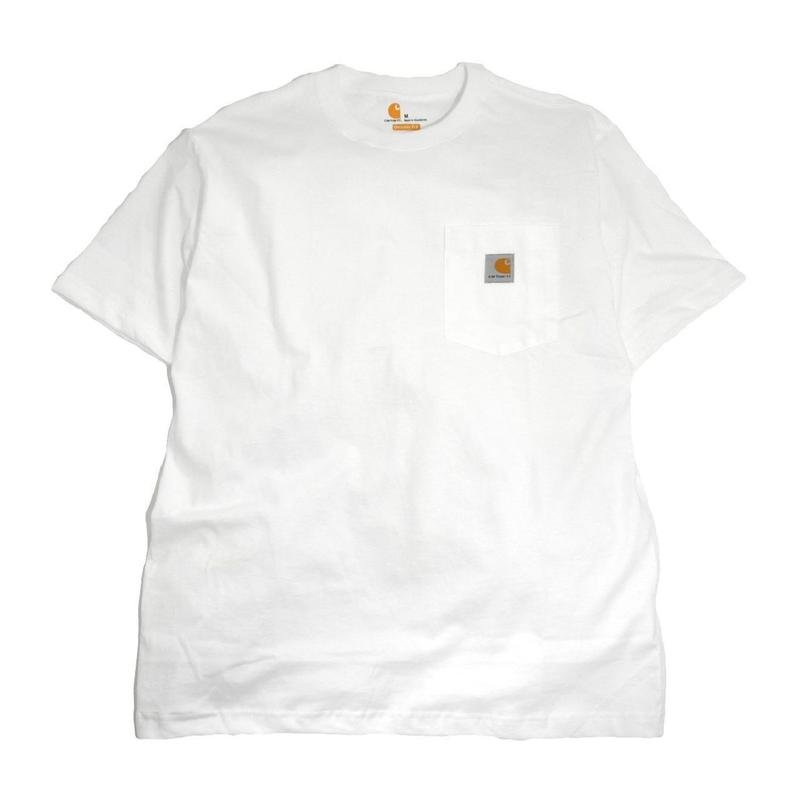 CARHARTT USA S/S POCKET T-SHIRTS WHITE