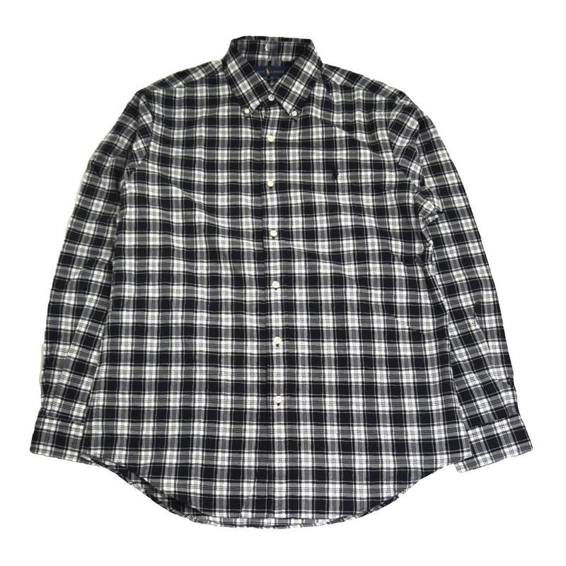 POLO RALPH LAUREN L/S CHECK SHIRTS (CLASSIC FIT) BLACK / WHITE