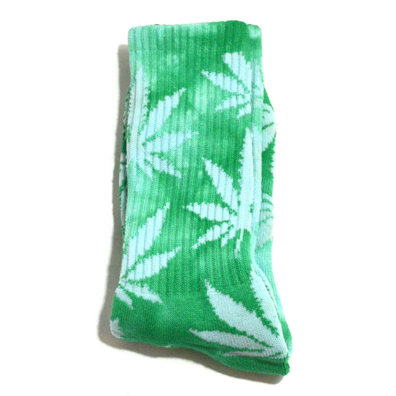 HUF ORIGINAL SOCKS (TIE DYE PLANT LIFE) GREEN