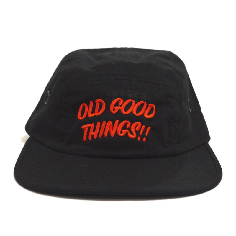 OldGoodThings 5PANEL CAP (ORIGINAL LOGO) BLACK