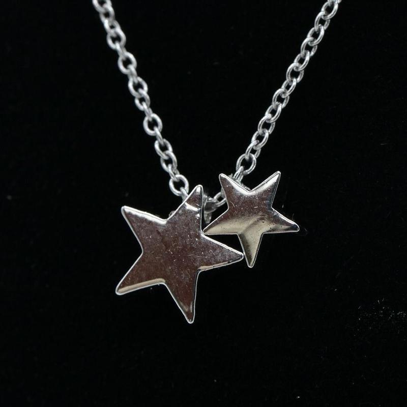 【EC-46】シルバーカラー スターネックレス