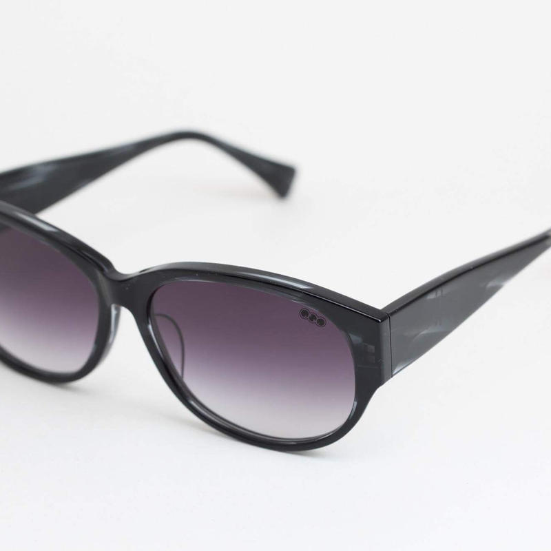 'mango' model black clear 柄2 frame/purple gadation lens