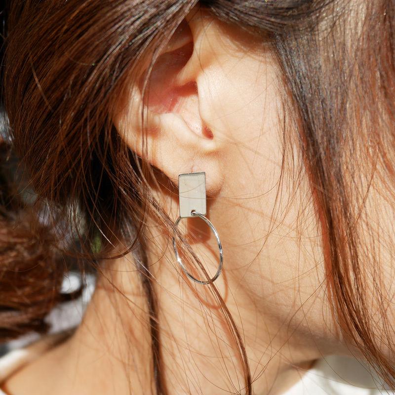 silver925 plate pierce