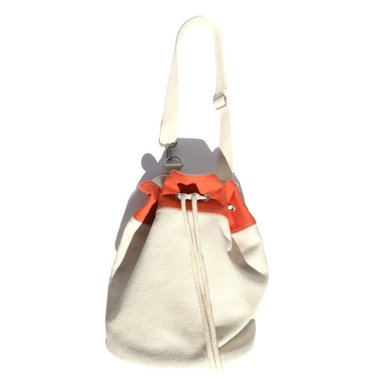 Drawstring bag/orange