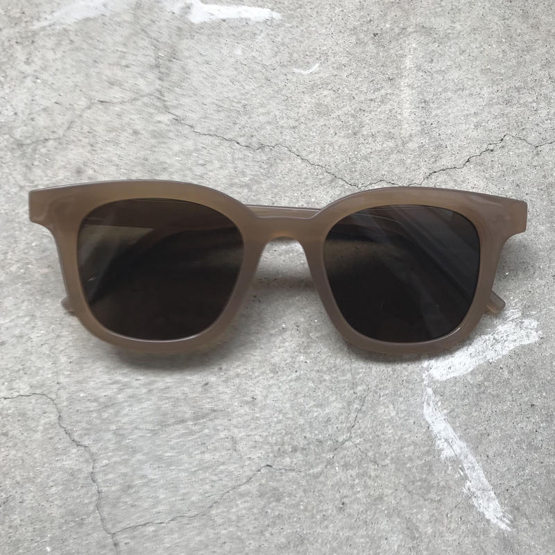 Beige clearflame sunglasses〈StyleNo.010612-1〉