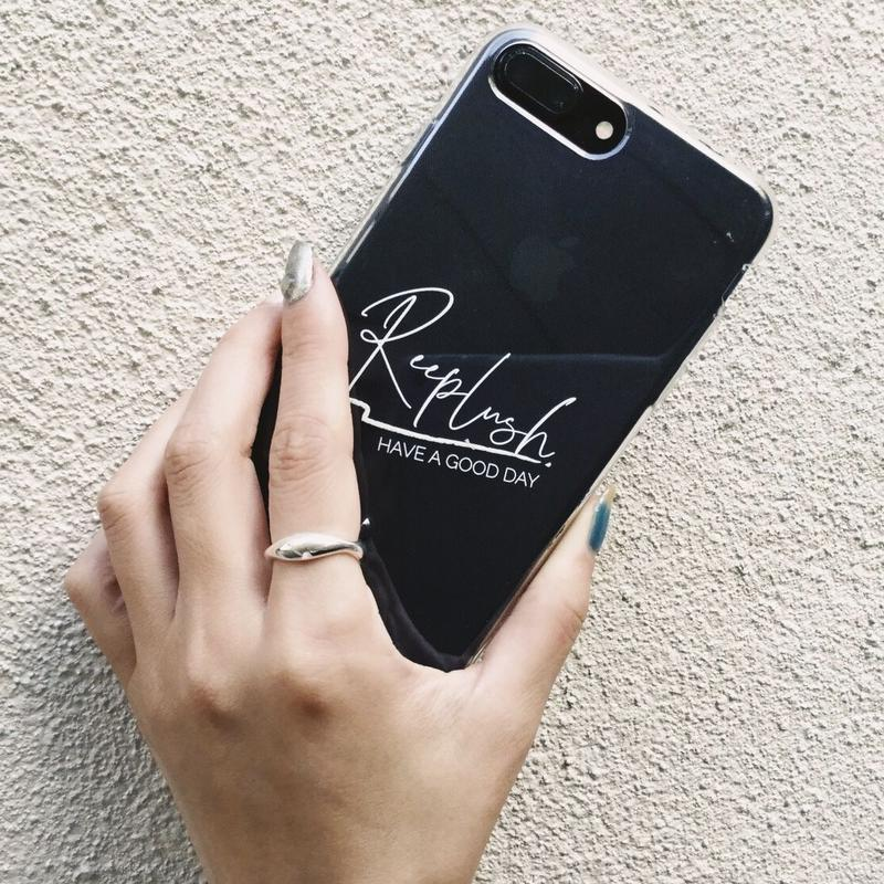 Reeplush i phone case/clear